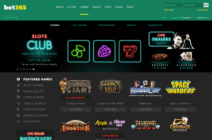 Bet365 Casino Screenshot