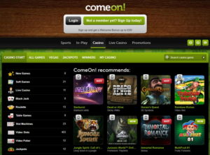 ComeOn Casino Screenshot