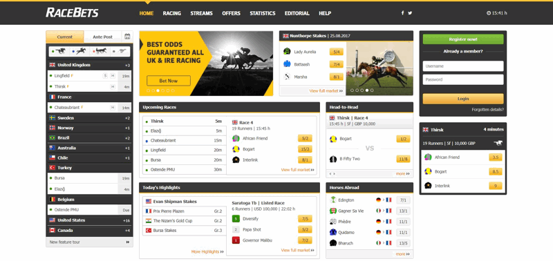 RaceBets Website