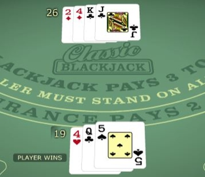 Blackjack Player Win