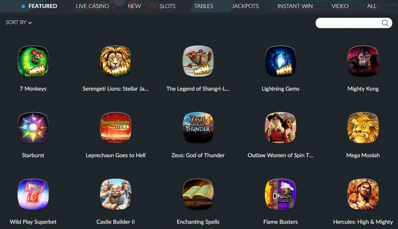 BetVictor Casino Games