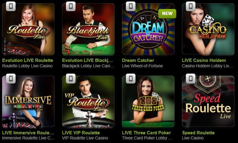 ComeOn Casino Live
