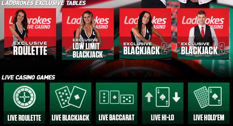 Ladbrokes Casino Live