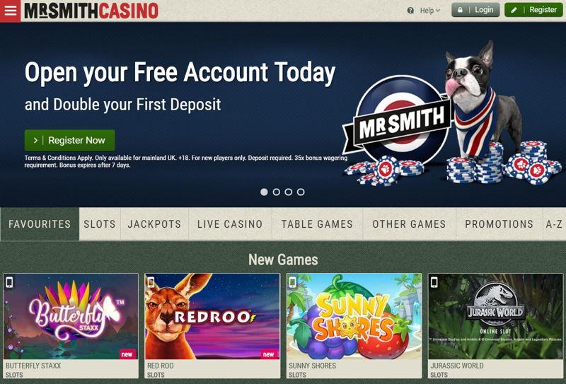 mr smith casino screenshot