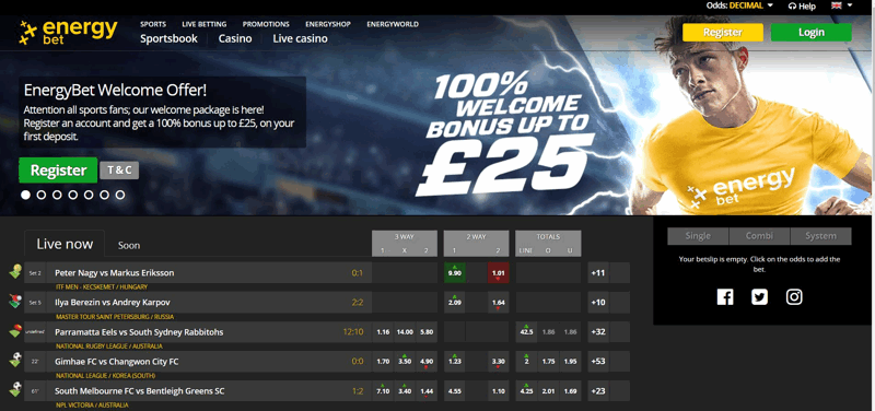 EnergyBet Website