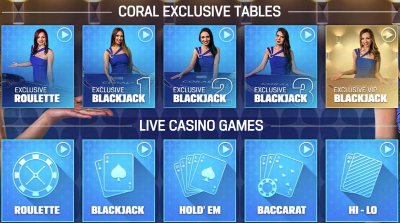Coral Casino Live